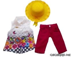 Şapkalı Şifon Gömlekli Takım