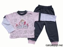 Dance Baskılı Kız Çocuk Pijama Takımı