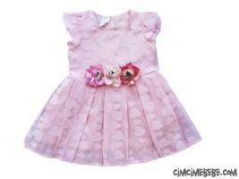 Çiçekli Kalpli Elbise