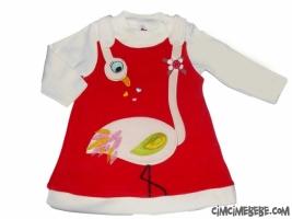 Kuğulu Kadife Elbise