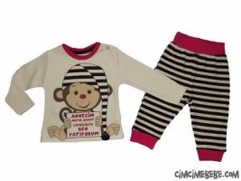 Ben Yatıyorum Baskılı Bebe Pijama Takımı