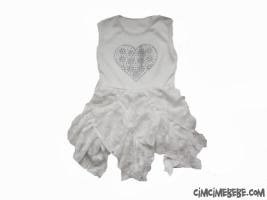 Kalpli Taşlı Kız Elbise