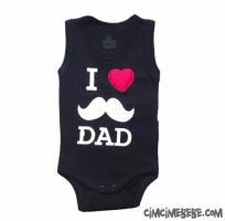 Love Dad Baskılı Bebe Badi