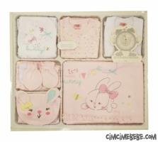 Tavşanlı 10 Parça Bebe Zıbın Seti