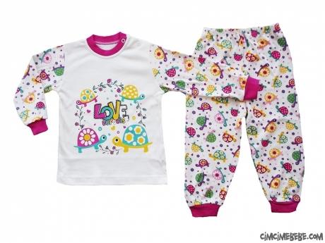 Kaplumbağalı Kız Pijama Takımı
