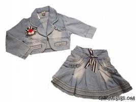 Kot Ceket-Etek Kız Takım