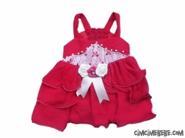 Güllü Şifon Bebe Elbise