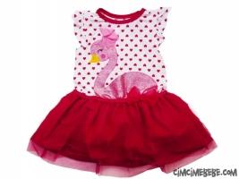 Kuğulu Tüllü Kız Elbise