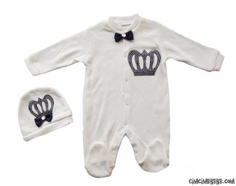 Kral Tacı Erkek Bebek Tulum