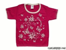 Çiçekli Taşlı T-Shirt