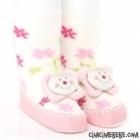 Çiçekli Çıngıraklı Çarık Çorap