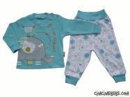 Filli Kuşlu Bebe Pijama Takımı