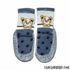 Köpek Baskılı Deri Tabanlı Çarık Çorap