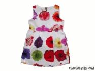 Çiçek Baskılı Balon Elbise