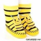 Arı Figürlü Çıngıraklı Çarık Çorap