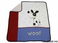 Woof Köpek Baskılı Penye Battaniye