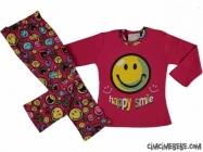 Happy Smile Kız Pijama Takımı