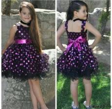 Puanlı Kokoş Kız Elbise