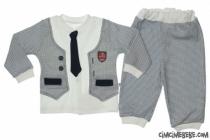 Ceketli Kravatlı İkili Takım