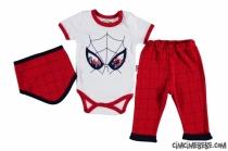 Örümcek Adam Baskılı Badili 3'lü Bebe Takım