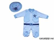 Fötr Şapkalı Bebe Tulum