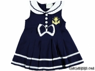Çapa Nakışlı Denizci Kız Elbise