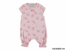 Çiçekli Kısa Bebek Tulum