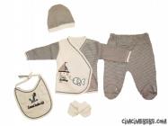 Yelkenli Çizgili 5'li Bebe Zıbın