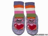 Ayıcıklı Kalpli Çarık Çorap