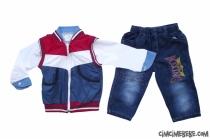 Yelekli Gömlekli 3'lü Erkek Bebe Takım