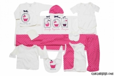 Lovely Cupcake 10 Parça Bebek Zıbın Seti