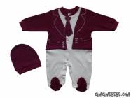 Sahte Ceketli Kravatlı Bebe Tulum
