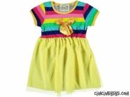 Rengarenk Etekleri Tüllü Elbise