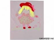 Kız Aplikeli Penye Bebe Battaniye