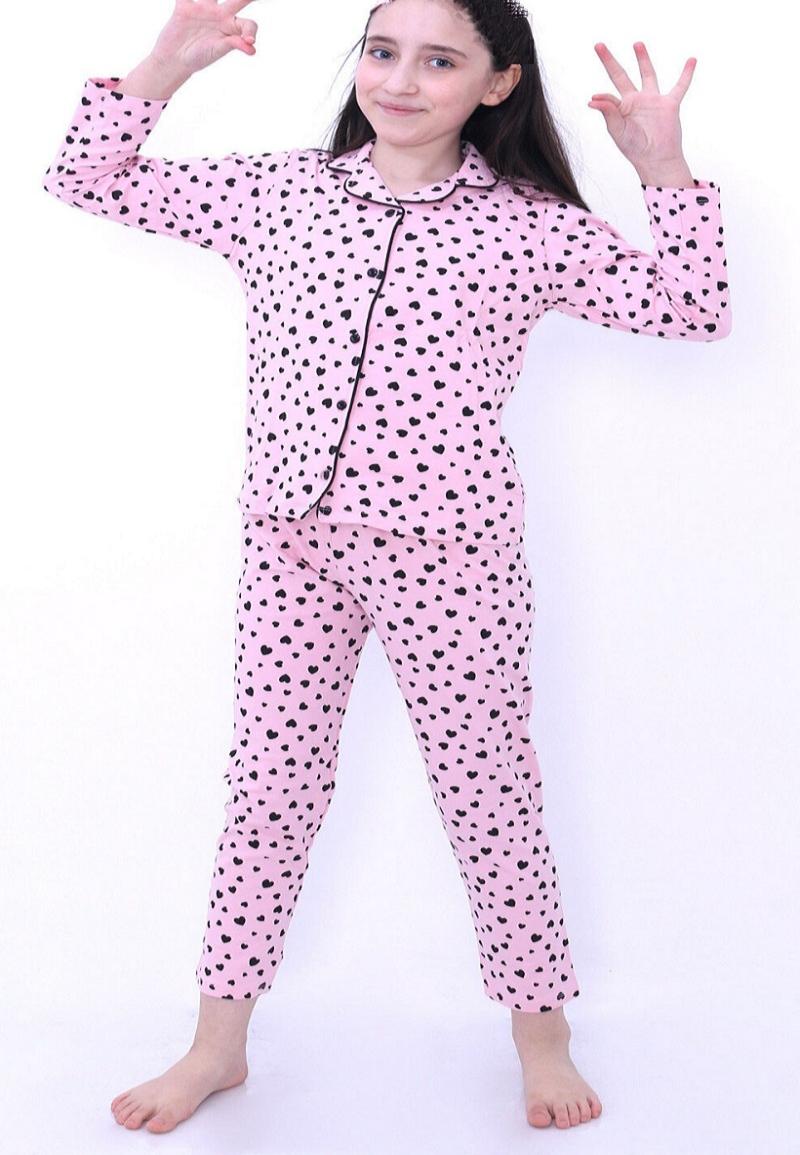 Kalpli Önden Düğmeli Pijama Takımı