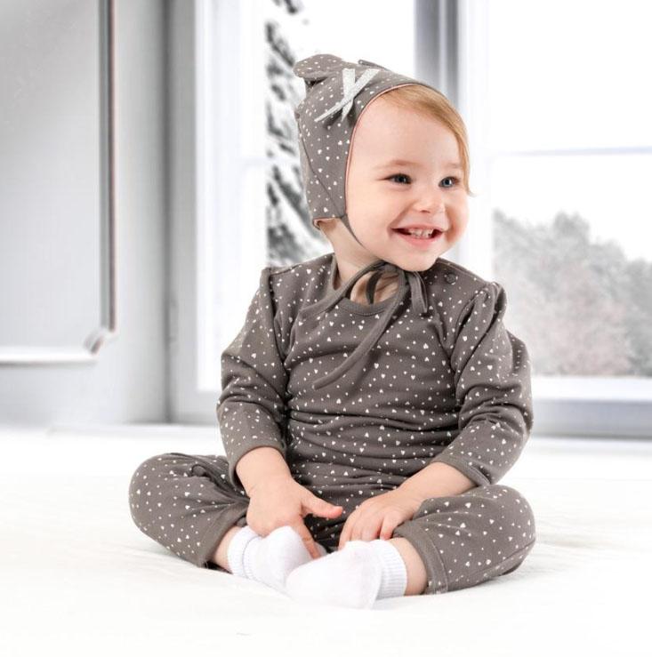 Kapli Sevimli Şapkalı Bebek Tulum