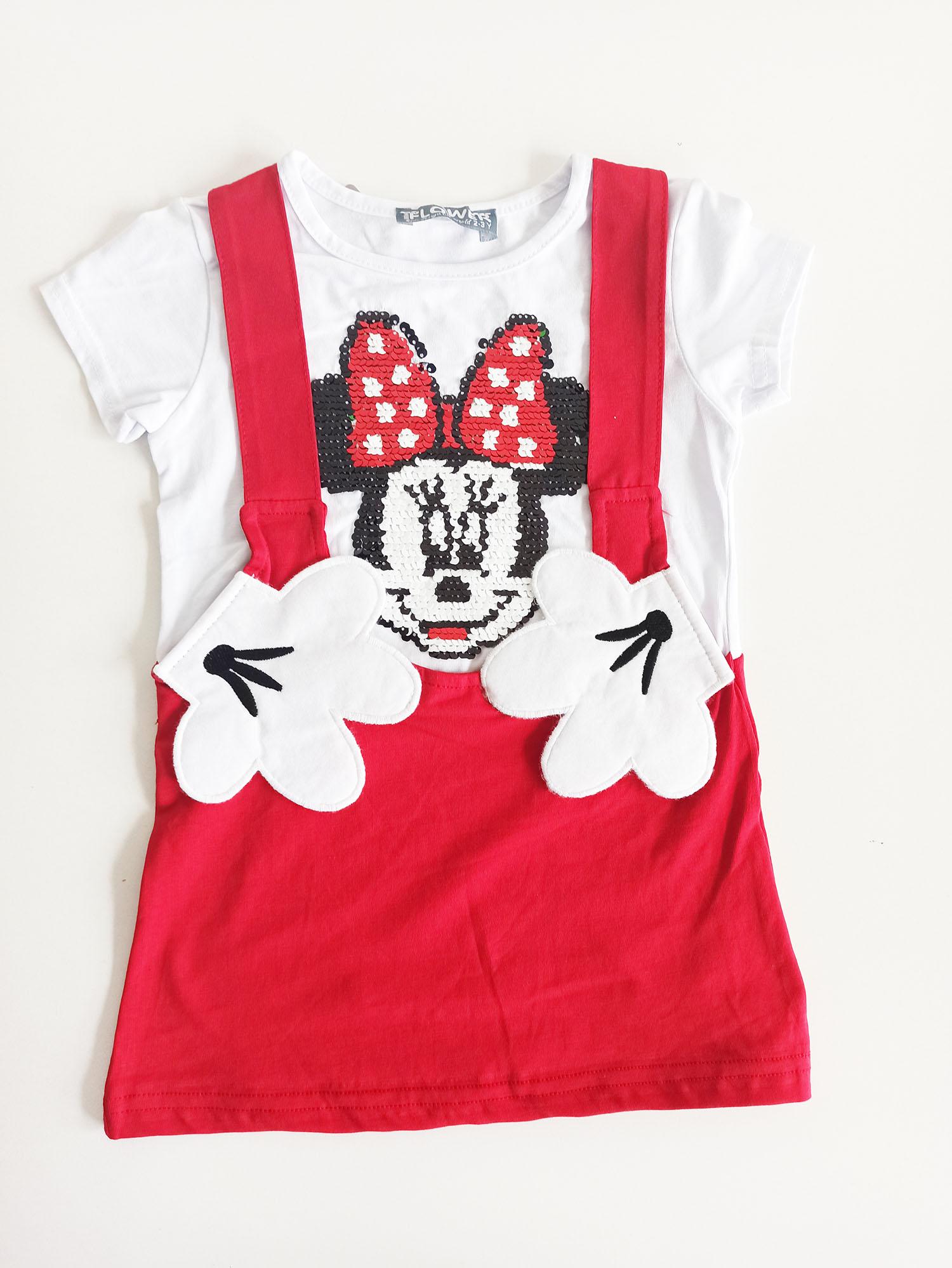 Mikili Askılı Kız Bebek Elbise
