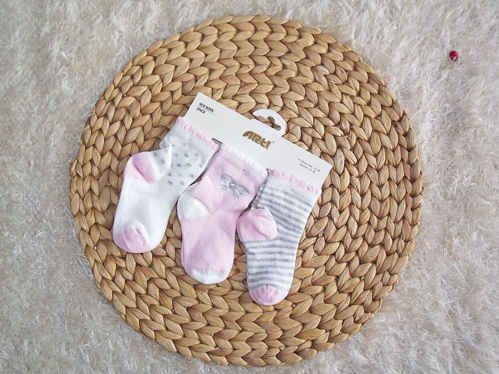 Kız Bebek 3'lü Çorap Seti