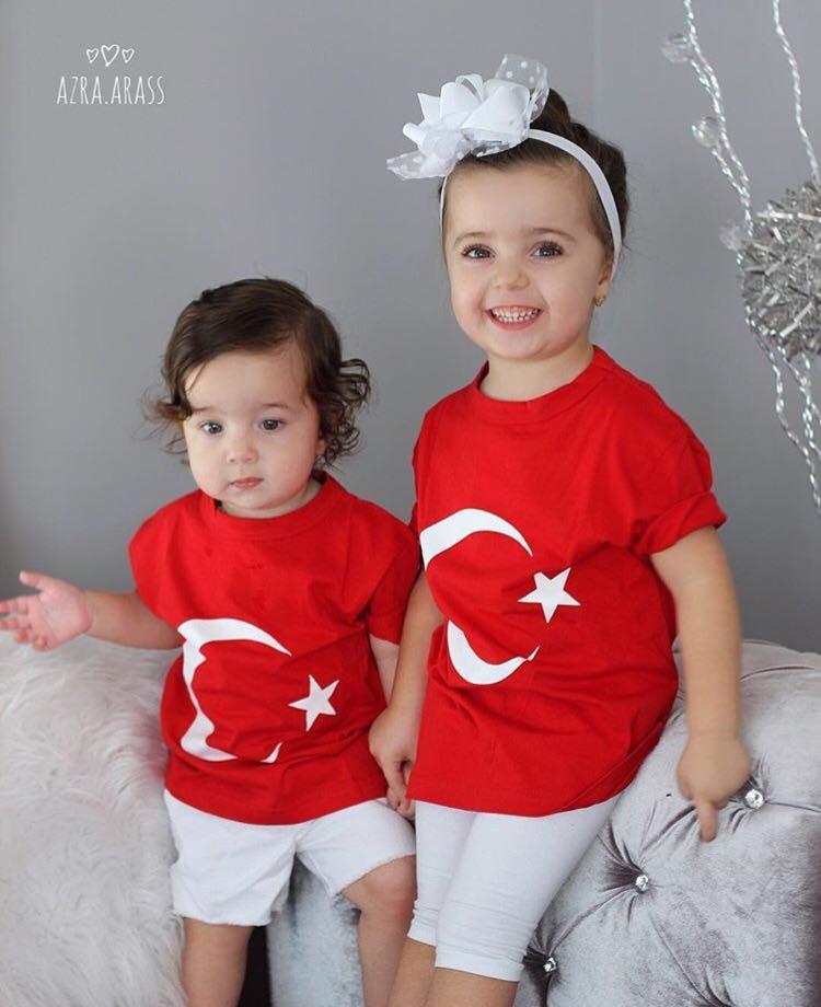 23 Nisan Türk Bayrağı Çocuk T-Shirt