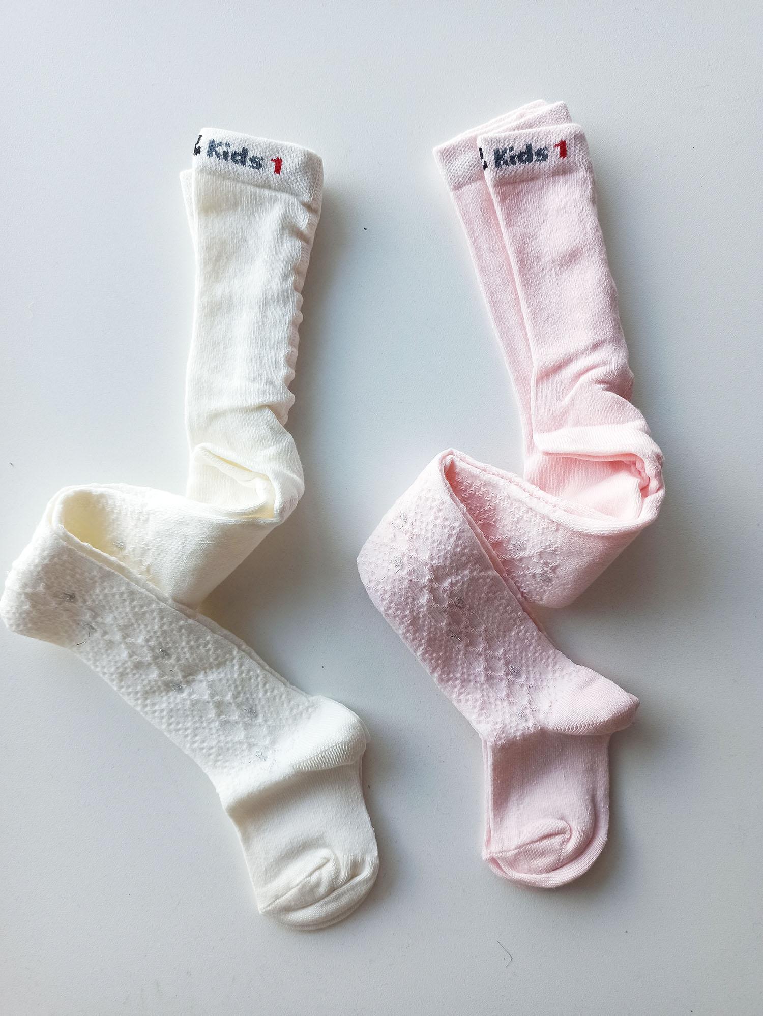 Kendinden Desenli Kız Çocuk Külotlu Çorap