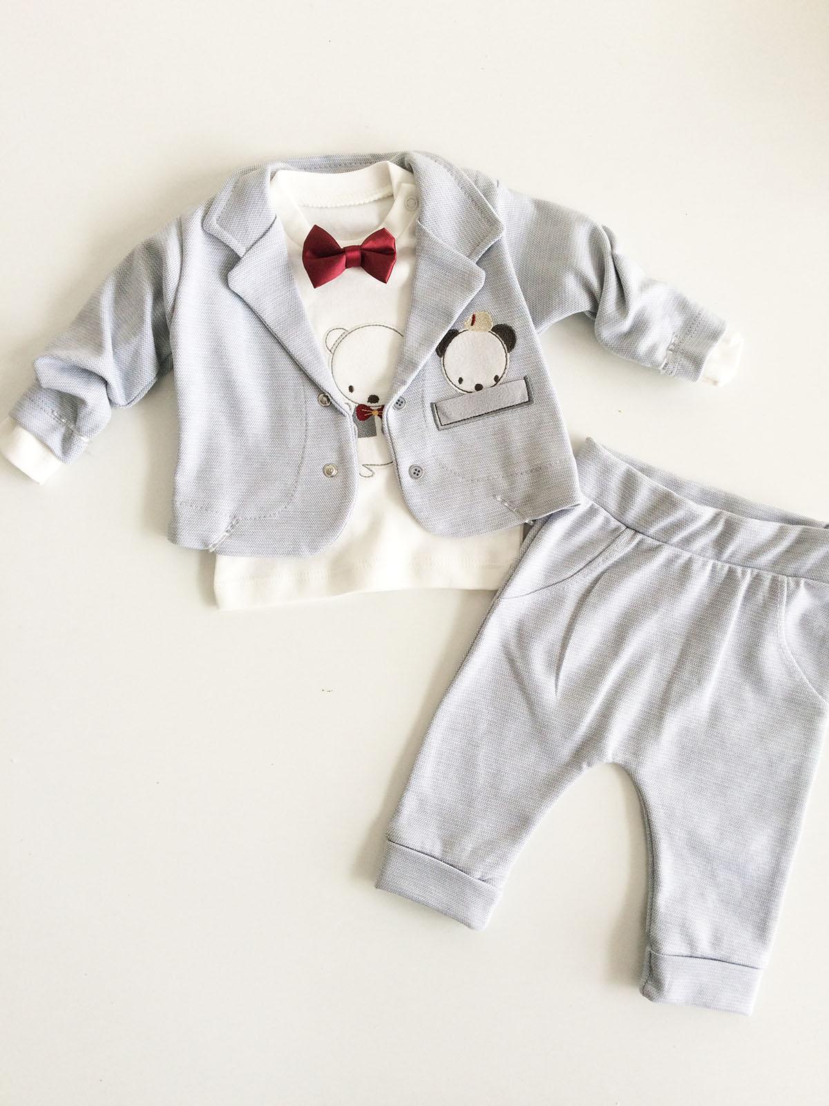 Ceketli 3'lü Bebek Takım