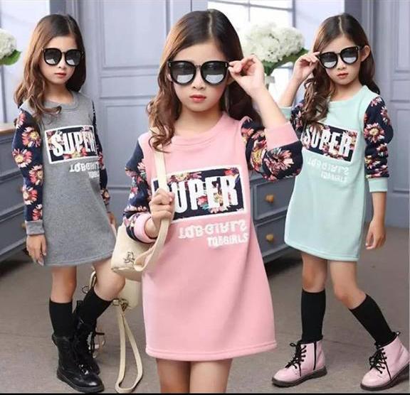 469bd7862350e Super İçi Polar Tarz Kışlık Elbise (89429) - Kız Çocuk Giyim