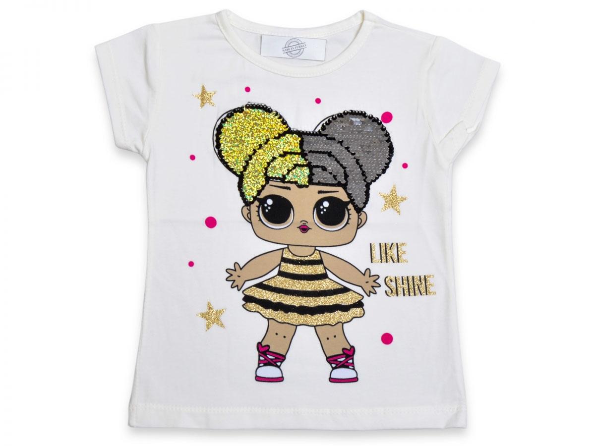 Sürpriz Kız Çocuk Pullu T-Shirt