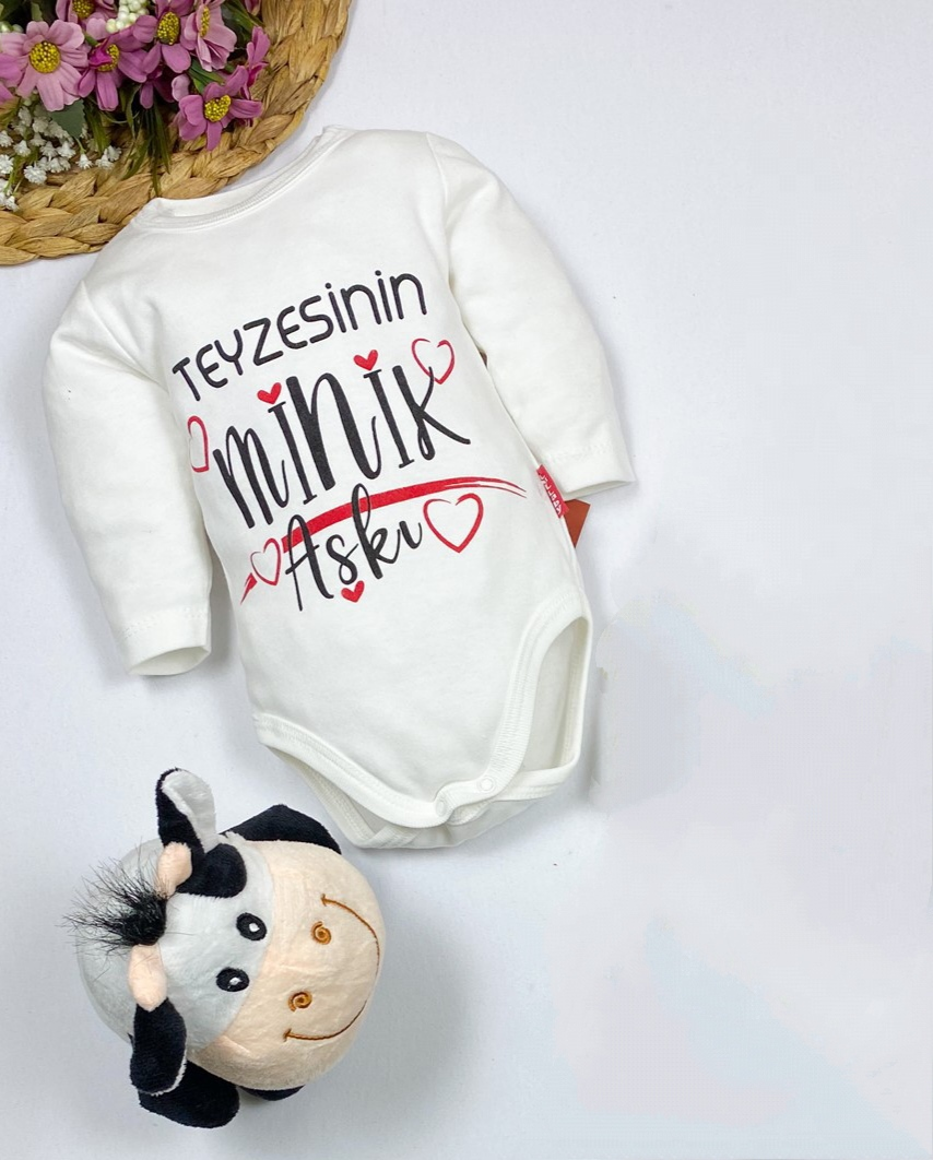 Teyzesinin Minik Aşkı Uzun Kollu Bebek Badi