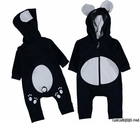 Panda Kostüm Bebek Tulum
