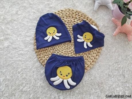Bebek Fular Şapka Külot Set