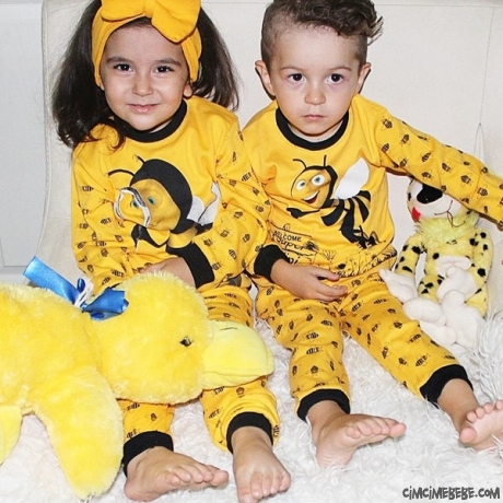 Arı Figürlü Erkek Çocuk Pijama Takımı