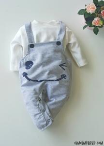 Sevimli Erkek Bebek Slopetli Takım