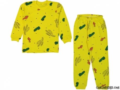 Kaktüs Desenli Pijama Takımı