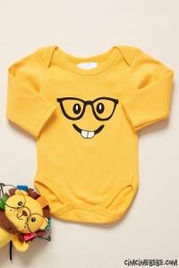 Dişlek Emoji Uzun Kollu Bebek Badi